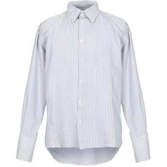 《セール開催中》MESSAGERIE メンズ シャツ ライトグレー 41 コットン 78% / シルク 22%