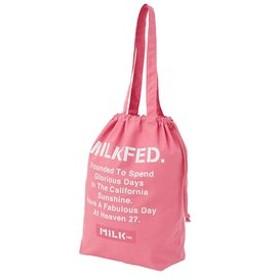 【MILKFED.:バッグ】FABULOUS LOGO DRAWSTRING 2WAY BAG
