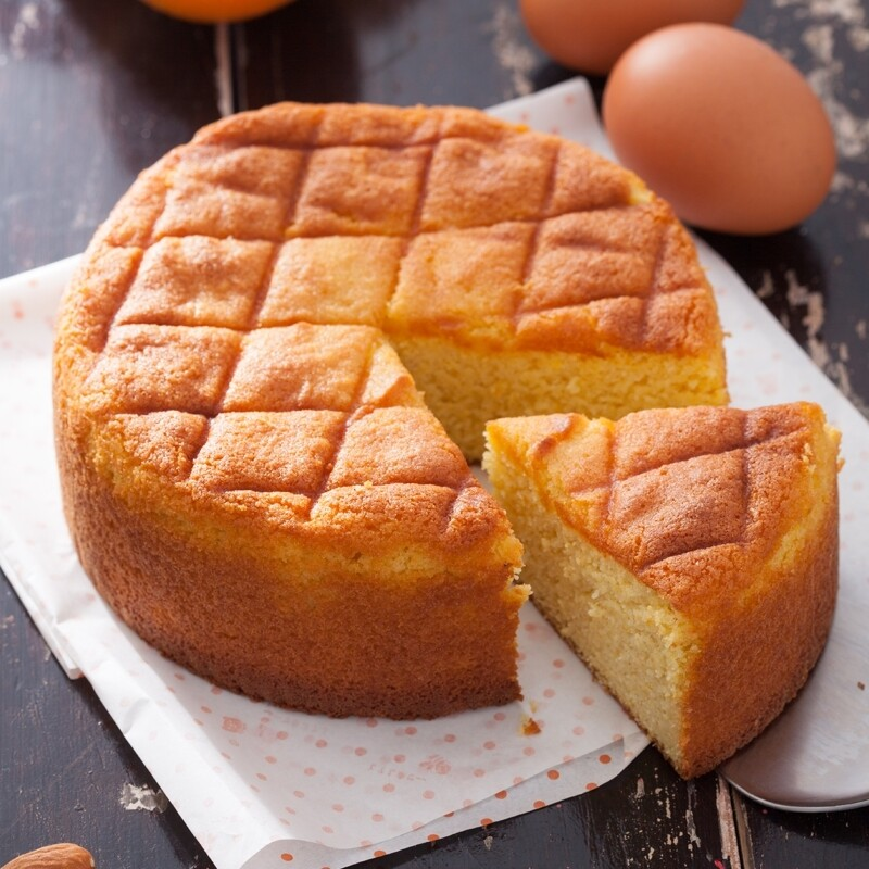 ls手作甜點香橙杏仁蛋糕 8吋 (無麵粉無奶)