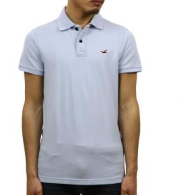 [ホリスター] HOLLISTER 正規品 メンズ ストレッチスリム ワンポイントロゴ 半袖ポロシャツ Stretch Slim Fit Polo 324-224-0402-200 S 並行輸入品 (コード:4129800325-2) [並行輸入品]