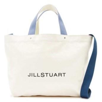 (JILLSTUART/ジルスチュアート)[WEB限定商品] JILLワイドキャンバストートバッグ/レディース CHALK×BLUE2 送料無料