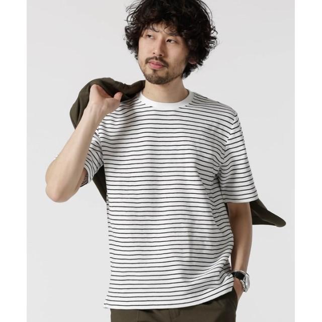 ジャガードボーダークルーネックTシャツ 5000円以上送料無料【公式/ナノ・ユニバース】