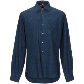 《期間限定セール開催中!》ORIAN メンズ シャツ ブルー 42 コットン 100%