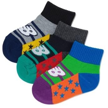 (NB公式) ≪ログイン購入で最大8%ポイント還元≫ ボーイズ3Pソックス (AS3 アソートカラー3) 靴下/ソックス ニューバランス newbalance