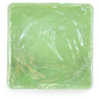 (ソウビエン) 帯留め ビードロ 浅緑 ガラス オパール 四角 スクエア ハンドメイド