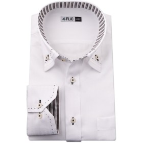 FLiC ワイシャツ メンズ 長袖 形態安定 襟高 Sサイズ flm-l09-ss-80-dt1307