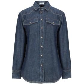 《セール開催中》BRUNELLO CUCINELLI レディース デニムシャツ ブルー S コットン 100% / 真鍮/ブラス