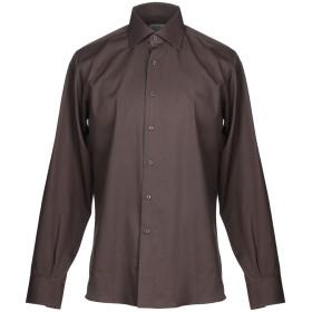 《期間限定セール開催中!》OLIVER メンズ シャツ ブラウン 40 コットン 100%