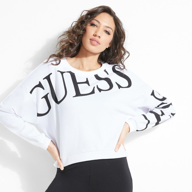 トレーナー - GUESS【WOMEN】 [GUESS] TATIANA LOGO SWEAT