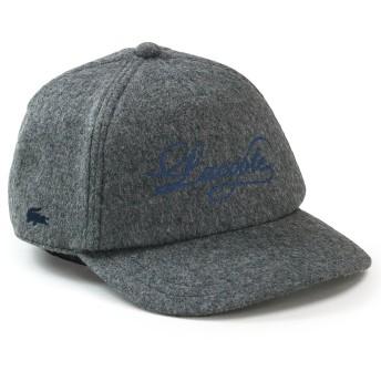 (ラコステ) LACOSTE キャップ CAP ウール 刺繍 ロゴ 筆記体 日本製 秋冬 l6405 L グレー