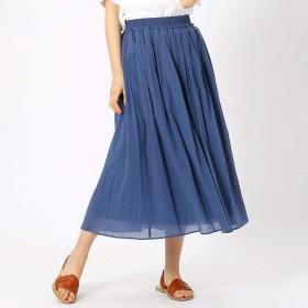 (コムサ イズム) COMME CA ISM コットン ギャザースカート 12-50FL10-109 L ブルー