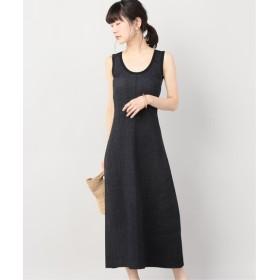 VERMEIL par iena CASASOLA STRETCH-KNIT TANK MIDI ドレス ブラック 38