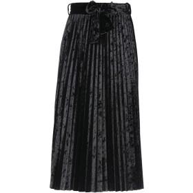 《セール開催中》KAOS JEANS レディース 7分丈スカート ブラック XS ポリエステル 96% / ポリウレタン 4%