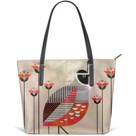 カリフォルニアウズラ レザートートバッグ財布ショルダーバッグポータブル収納ハンドバッグ便利なショッパートートバッグ