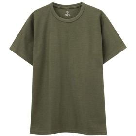Navy(ネイビー) 汗ジミ軽減 クルーネックTシャツ 半袖Tシャツ クルーネック MH/03625SS-1 メンズ カーキ:XXL