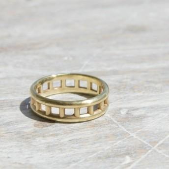 ラダーリング 鏡面 真鍮リング|BRASS RING 指輪 シンプル アクセサリー|147