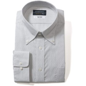 サカゼン HYBRIDBIZ 大きいサイズ メンズ HYBRIDBIZ TRAVELER 超形態安定 ボタンダウン 長袖 ワイシャツ RELAX BODY ホワイト×ブラック / 5L
