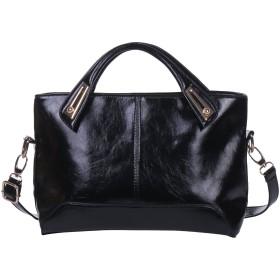 [エンジェルムーン] レディース バッグ ハンドバッグ ショルダーバッグ 大容量 通勤 2way シンプル 肩掛け bag かわいい カバン women バック キャバ エナメル かばん女性用 ビジュー 鞄 トート レディースバッグ 斜めがけ (ブラック)