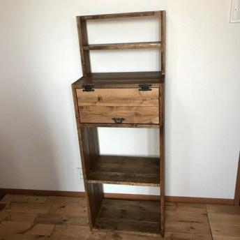 在庫限りsale*display shelf cabinet h120 DB 上段飾り棚付きキャビネット
