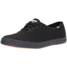 Keds Womens Champion Canvas Fashion Sneaker, Black, Size 6.5