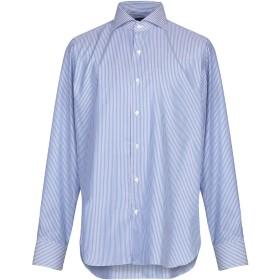 《期間限定セール開催中!》FINAMORE 1925 メンズ シャツ ブルー 45 コットン 100%