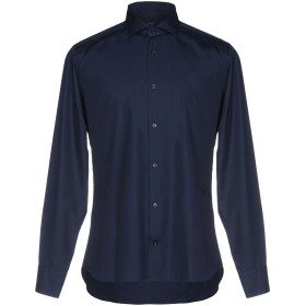 《期間限定セール開催中!》VARESI メンズ シャツ ダークブルー 40 コットン 100%
