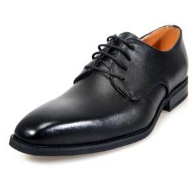[アラモーダ] 日本製 ビジネスシューズ 本革 メンズ 革靴 紳士靴 外羽根プレーントウ 1261 ブラック 26.0cm