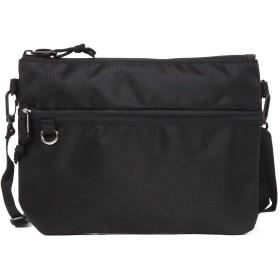 サコッシュ メンズ レディース 軽量 バッグインバッグ ミニショルダーバッグ (ブラック)
