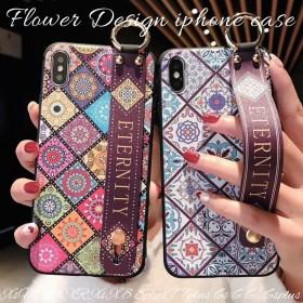 iphoneケース 韓国 かわいい iphoneXs max xr x 8 plus 7 6s スマホ ケース アイフォンケース ソフト 花柄 大人可愛い おしゃれ リング フィンガーバンド
