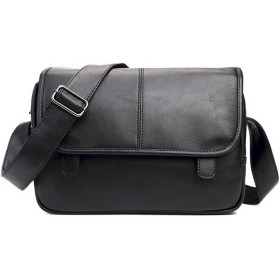 ショルダーバッグ かばん 斜めがけ 本革 メッセンジャーバッグ ビジネスバッグ カジュアル メンズ 大容量 通勤 カバン 仕事 (ブラック)