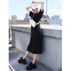 エモダ サイドスリットラフワンピース レディース ブラック F 【EMODA】