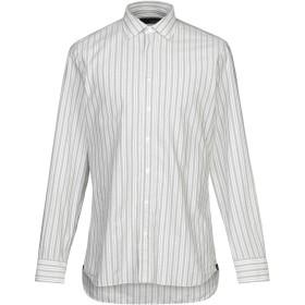 《期間限定 セール開催中》LARDINI メンズ シャツ ライトグレー 40 コットン 100%