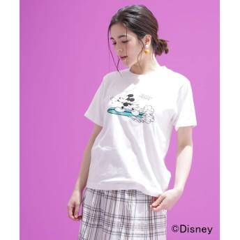 【公式/ナノ・ユニバース】別注プリントTシャツ(ミッキー) 5000円以上送料無料【BALMY DAY'S】