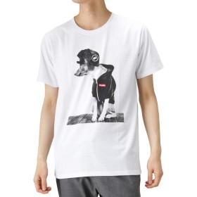 T-GRAPHICS(ティーグラフィックス) Simplify プリントTシャツ 半袖Tシャツ クルーネック EJ193-MC139 メンズ ホワイトB:L