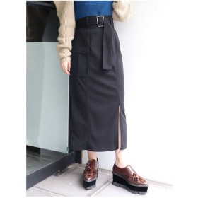 MURUA サイドポケットペンシルスカート(ブラック)