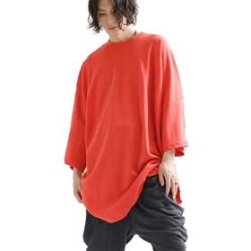 5d59e10819452 [ミンソビ] ロゴビッグTシャツ 半袖 ユニセックス スウェット FREE RED