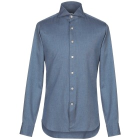 《期間限定 セール開催中》ALESSANDRO GHERARDI メンズ シャツ ブルー 39 コットン 100%