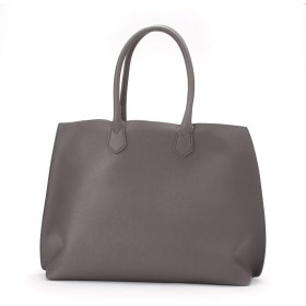 メンズ 男性 トートバッグ クラッチバッグ付き 鞄 かばん ビジネス 通勤 PU レザー ショルダー 肩掛け A4 グレー 灰色