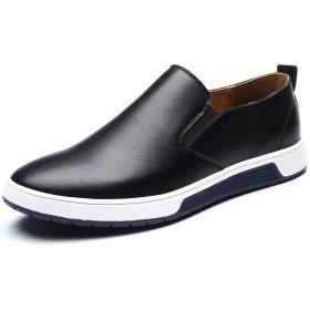 [フォクスセンス] 革靴 ビジネスシューズ 紳士靴 スリッポン ラウンドトゥ カジュアル メンズ 通気性抜群 軽量 滑り止め 柔らかい ブラック 28.0cm gwk1986