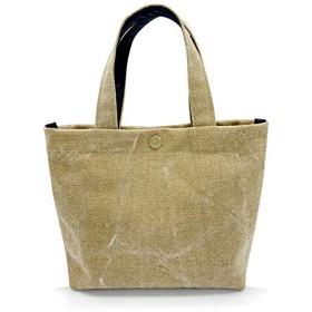 キャンバストートバッグ 手持ちタイプ 無地コットン 小さめ散歩バッグ ランチバッグ 子供バッグ 日本製 ミニトートバッグ (S, ビンテージゴールド)