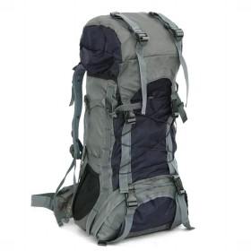 PHOENIX IKKI 60L 多機能 軽量 通気性良 撥水加工 男女兼用 アウトドア 旅行 ハイキング トレッキング 登山ザック リュックサック バックパック レインカバー付き ダークブルー