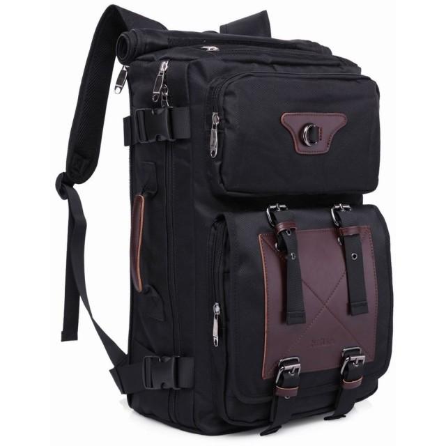 アウトドア リュック 旅行 バックパック バック 大容量40L ハイキング 登山用 ブラック