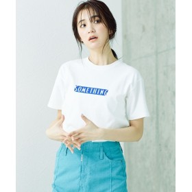 【公式/ナノ・ユニバース】ロゴTシャツ 5000円以上送料無料【SOMETHING】