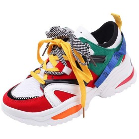 [Kumi] スニーカー レディース 黒 ランニング ジョギング ウォーキング 22cm salt 人気 24 25 通気性 シューズ 運動靴 スポーツ 軽量 レジャー 通学(37 マルチカラー)