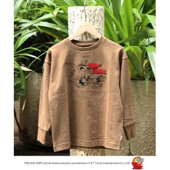 コーエン Tom and Jerry(トムとジェリー) 刺繍ロングスリーブTシャツ レディース BEIGE 110 【coen】
