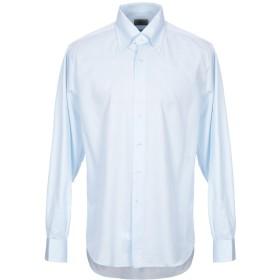 《期間限定 セール開催中》OLIVER メンズ シャツ スカイブルー 43 コットン 100%