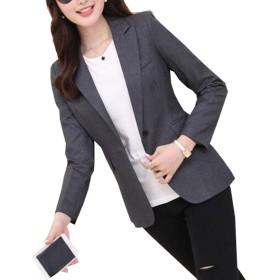 レディース スーツジャケット テーラードジャケット 通勤 フォーマル オフィス カジュアル 入学式 入園式 卒業式 エレガント 大きいサイズ (3XL)