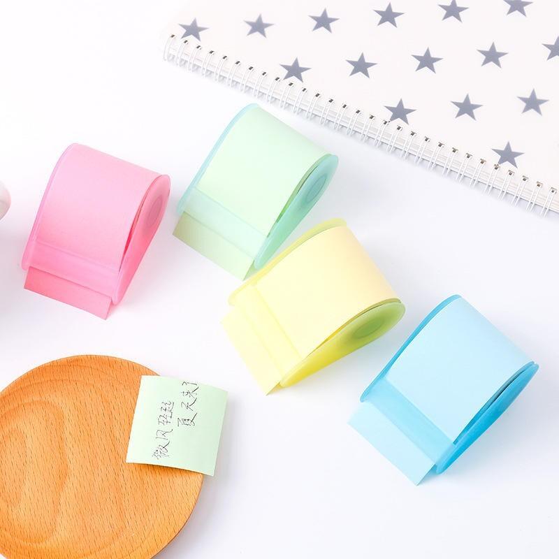 a-hung彩色膠帶捲紙式便利貼 可任意書寫黏貼 膠帶便利貼 膠台 和紙膠帶 膠帶座 捲紙便利貼
