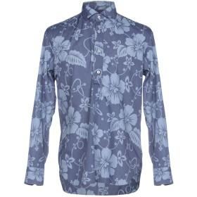 《期間限定セール開催中!》DOPPIAA メンズ シャツ ブルーグレー 40 テンセル 65% / コットン 35%