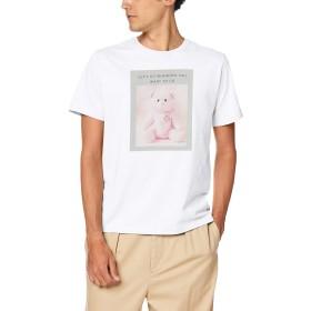 [ウィゴー] WEGO ファンシー アニマル フォト T シャツ 半袖 L ホワイト メンズ